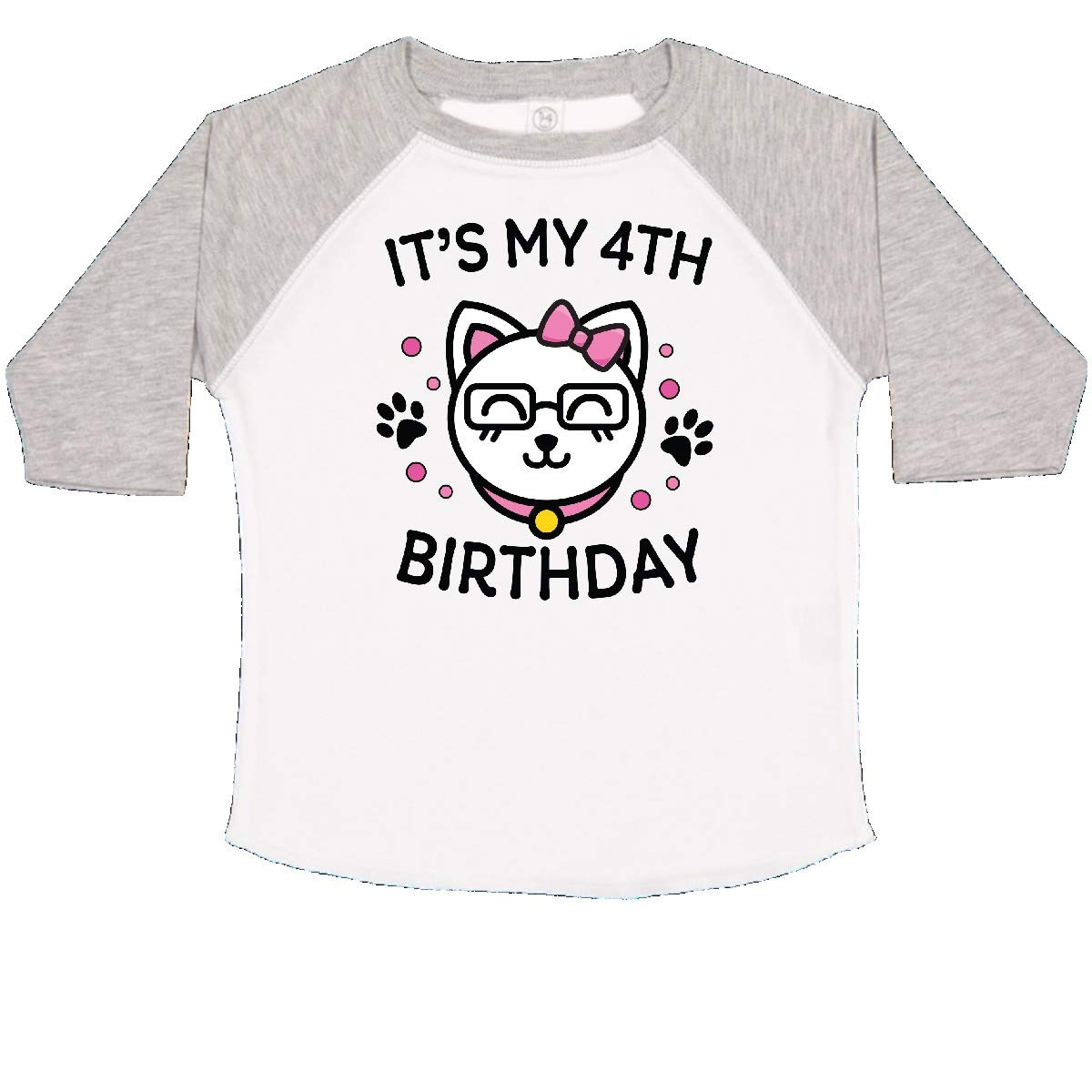inktastic Its My 4th Birthday with Cat in Glasses Toddler T-Shirt