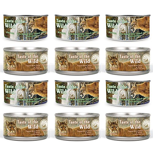 Taste of the Wild Cat Food Variety Pack Box - 2 Flavors  - 3
