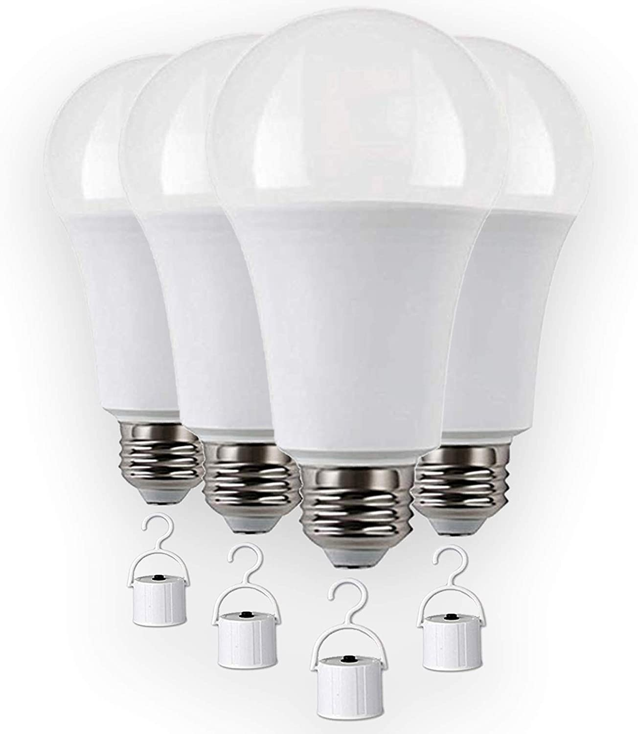Rechargeable LED light bulbs with Battery backup, Emergency LED Bulb, Pack of 4, LED 60 Watt bulb.
