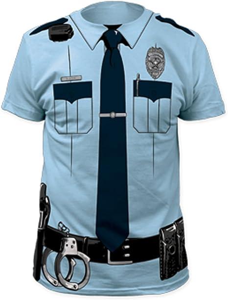 Disfraz de Oficial de policía T-Shirt Adultos para Hombre CP Cobre Uniforme Policía Hombre Derecho: Amazon.es: Deportes y aire libre