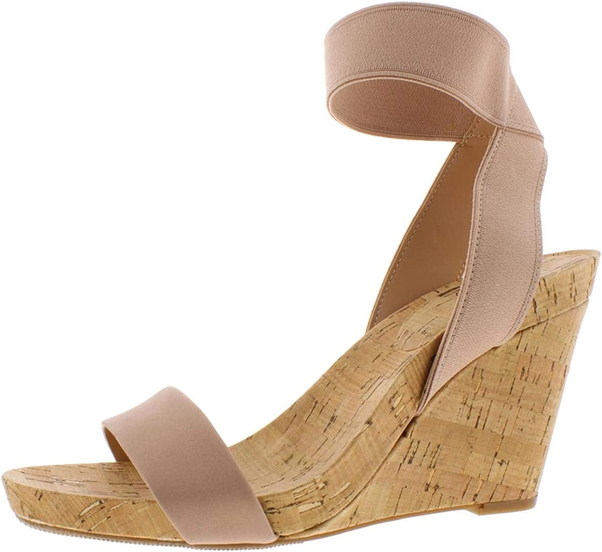INC International Concepts Womens Leanira Leather Open Toe Casual Ankle Strap...