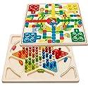 Kayiyasu カイヤス ダイヤモンドゲーム 木のおもちゃ 知育玩具 チェッカー 木製 ラトル キッズ ツーインワン 021-lzgy-d34643(29.4*29.4*1.4cm 約1000g )の商品画像