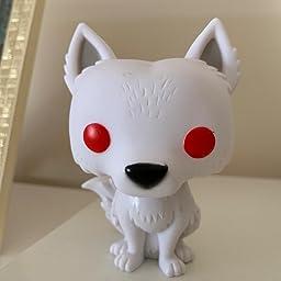 "FUNKO Game of Thrones Ghost Direwolf Action Figure 3.75/"" RARE Jon Snow Wolf"
