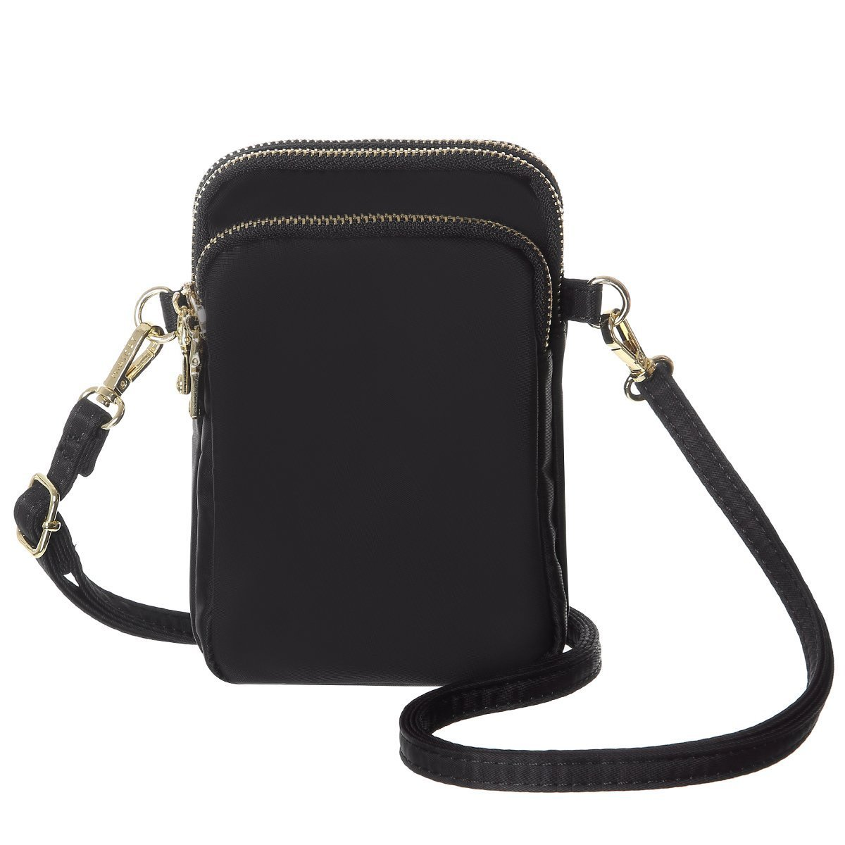 MINICAT Nylon Small Crossbody Bags Cell Phone Purse Smartphone Wallet For Women (Black)