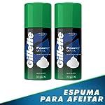 Gillette Espuma Para Rasurar Gillette Mentol 312g, 2 Unidades, Pack of 1