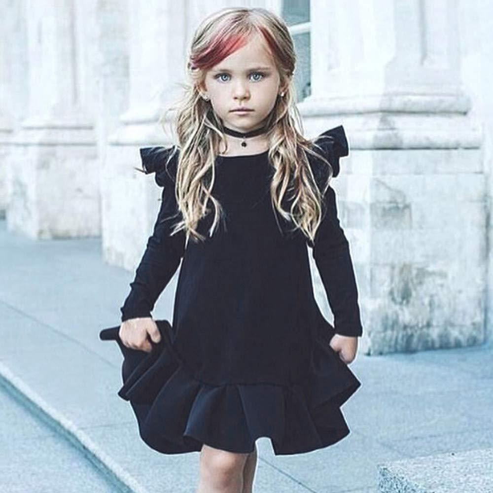 Amlaiworld Vestidos niñas, Vestido Infantil de Princesa con Volantes de Manga Larga para niñas bebés Faldas Camisas Tops Primavera Otoño Invierno 6 Mes - 4 ...