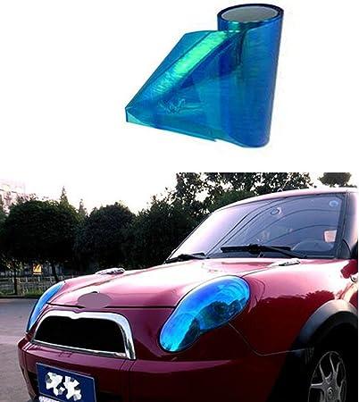 Sport Family Auto Scheinwerfer Folie Tönungsfolie Aufkleber 200cm X 30cm Für Scheinwerfer Rückleuchten Stoßfänger Haubenhaube Etc Verfärbung Blau Auto