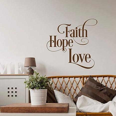 Faith Hope Love Tatuajes de pared Cita inspirada de la pared ...