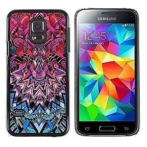 Stuss Case / Funda Carcasa protectora - Art Deco Pattern Royal Purple Pink Blue - Samsung Galaxy S5 Mini, SM-G800, NOT S5 REGULAR!
