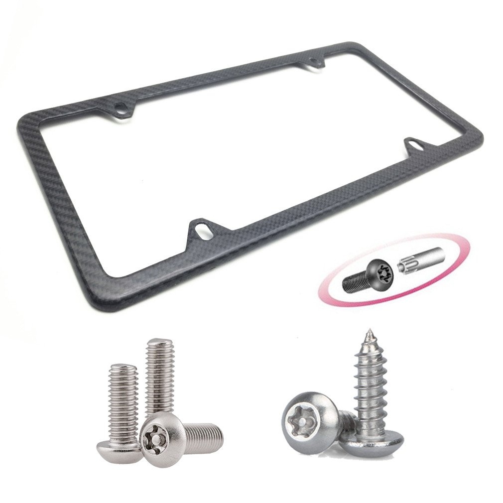 ECHTE Karbonfaser Nummernschild Rahmen Aluminium Teller Rahmen ...