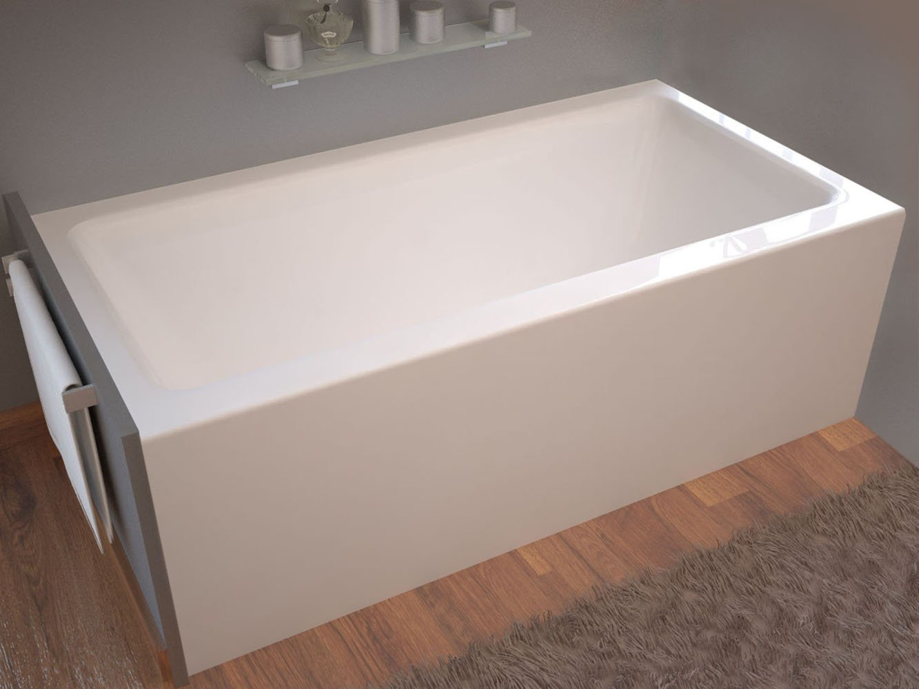 Pontormo 32 x 60 Front Skirted Drop-In Bathtub - Soaker Tub with ...