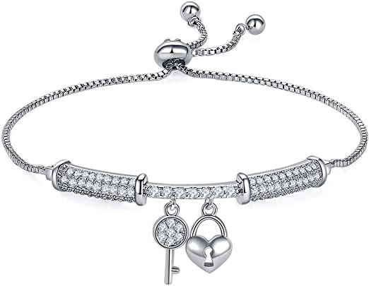 Women Crystal Zircon Gold Plated Bracelet Chain Cuff Bangle Fashion Wristband WL
