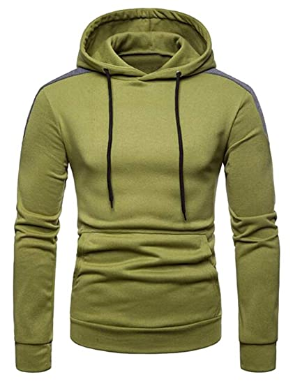 Jotebriyo Men Comfy Casual Color Block Gym Workout Hoodie Pullover Hoodies  Sweatshirt at Amazon Men s Clothing store  91ed00b86