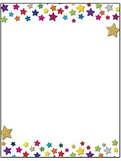 amazon com academic border stationery 80 sheets stationery for