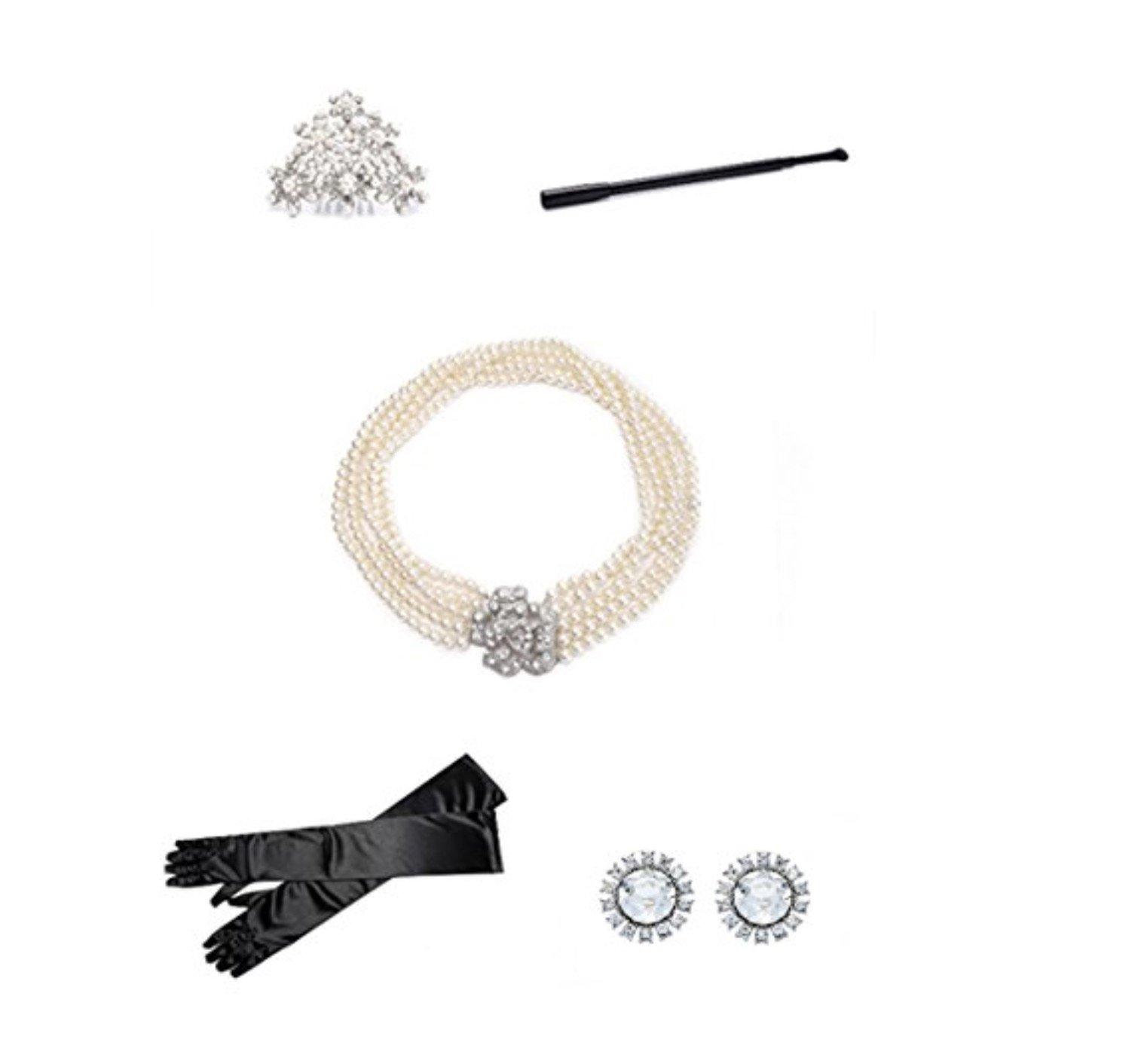 Utopiat Costume Jewelry and Accessory Set, Audrey Hepburn, Breakfast at Tiffany's by Utopiat (Image #2)
