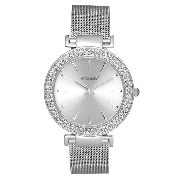 Reloj With Made Metropolitan Enchanted Crystals Mujer Plata lFJTK1c