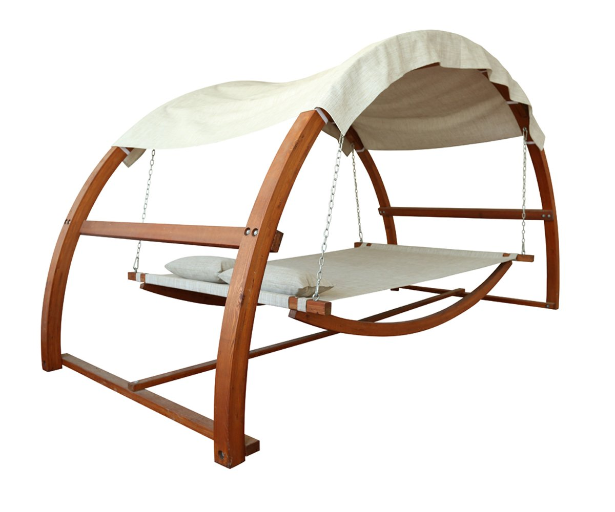 Amazon.com: Leisure Season SBWC402 Swing Bed with Canopy: Patio, Lawn &  Garden - Amazon.com: Leisure Season SBWC402 Swing Bed With Canopy: Patio