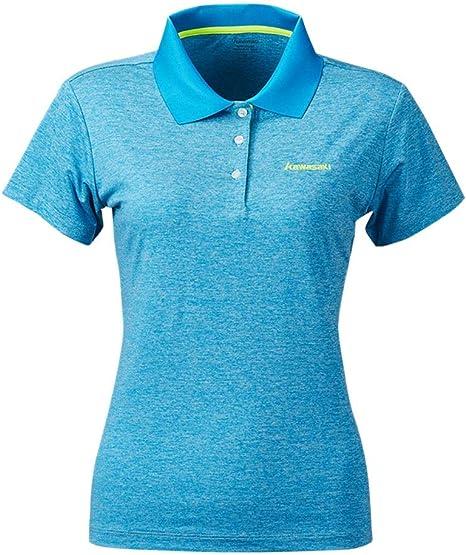 HWTP Camisa de Golf-bádminton Camiseta Cuello Deportivo Damas Camiseta Seca Transpirable de Manga Corta ST-S2117,A,M: Amazon.es: Deportes y aire libre
