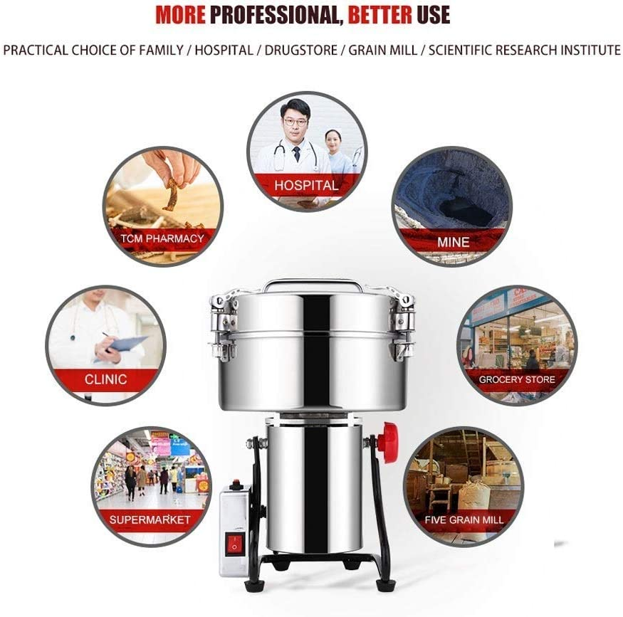 Ultra-fine Mill Powder Machine Swing Type Dry Cereals Grain Mixer Mill for Herb Grinding Grain Pulverizer WMDXTM Electric Grain Grinder
