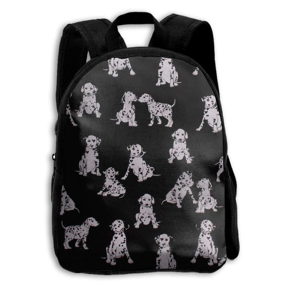 ERTOUGN22 Love Dalmatians Dogs School Backpacks Boys Girls Bookbag Kids Student Backpack
