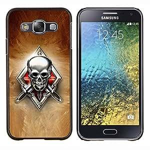 For Samsung Galaxy E5 E500 Case , Esqueleto Crest- Diseño Patrón Teléfono Caso Cubierta Case Bumper Duro Protección Case Cover Funda