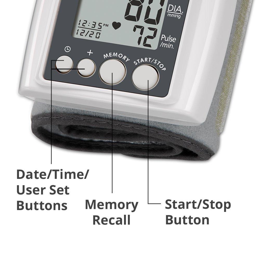 HoMedics BPW-040 - Tensiómetro (Muñeca, Automático, Gris, 1 usuario(s), 40-199, 13,5-19,5 cm): Amazon.es: Hogar