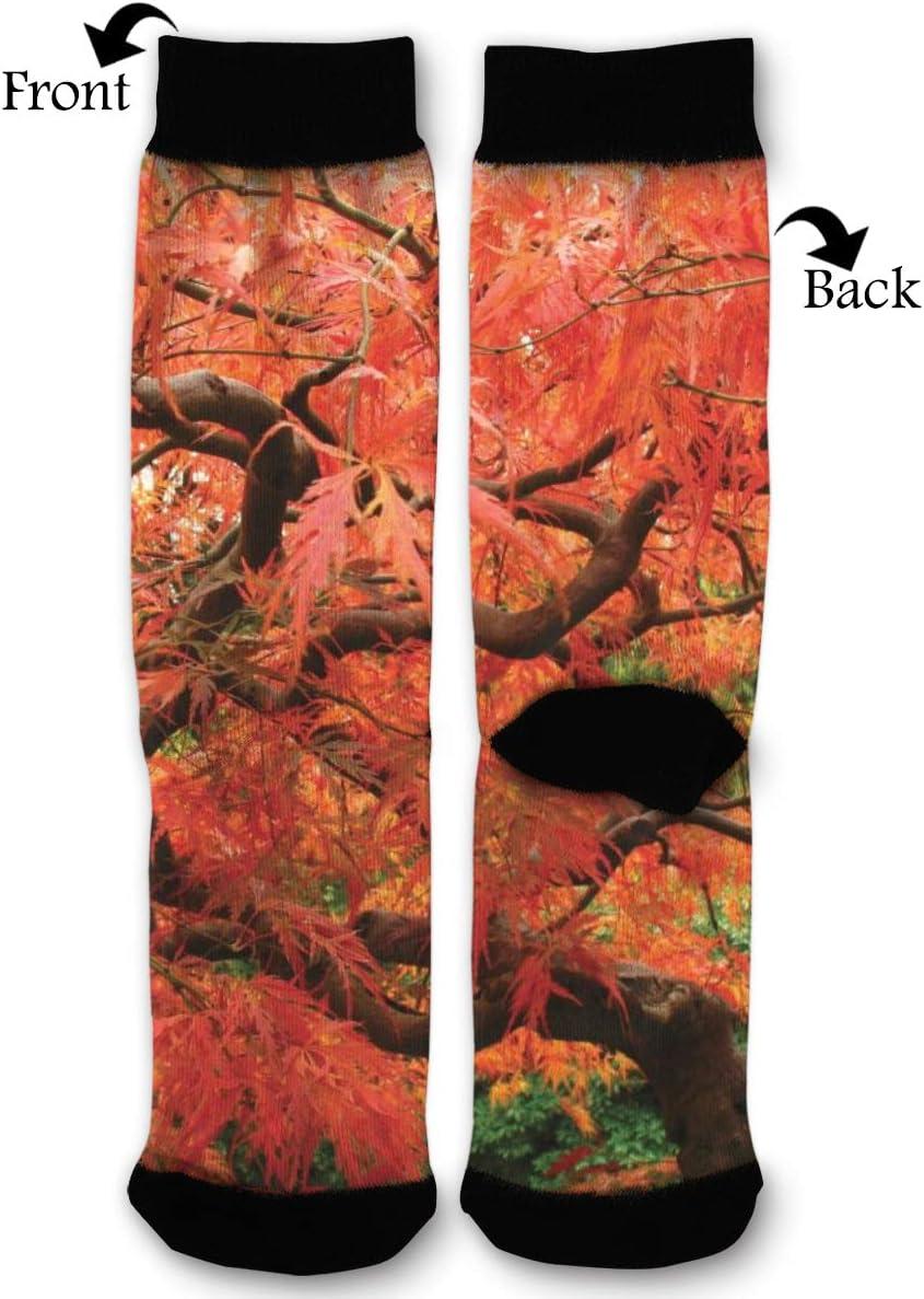 BLongTai Knee High Compression Socks Black Lightning Pattern for Women and Men Sport Crew Tube Socks
