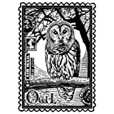 Colorbok Crafty Individuals Unmounted Rubber Stamp, 4.75 by 7-Inch, Airmail Owl