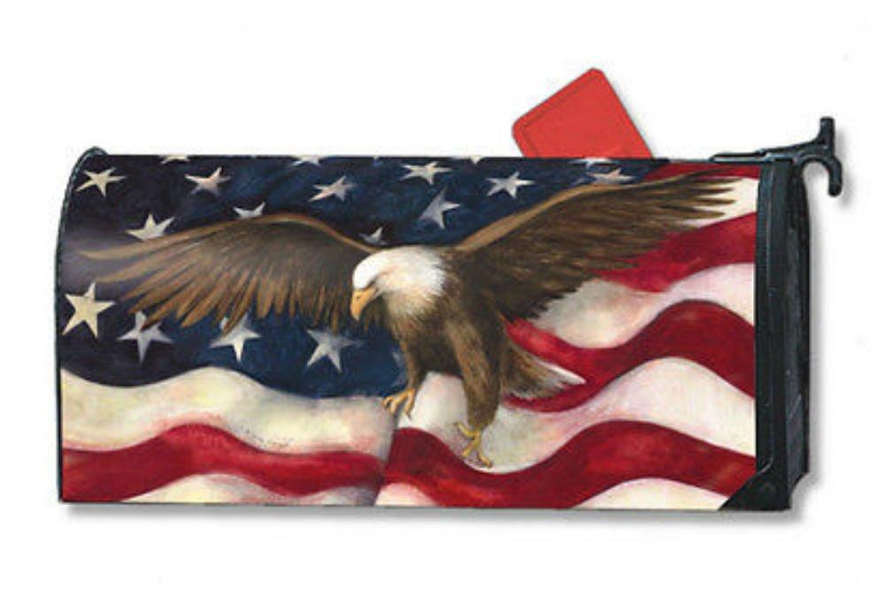 American Flag Pride Eagle Original Magnetic Mailbox Wrap Cover