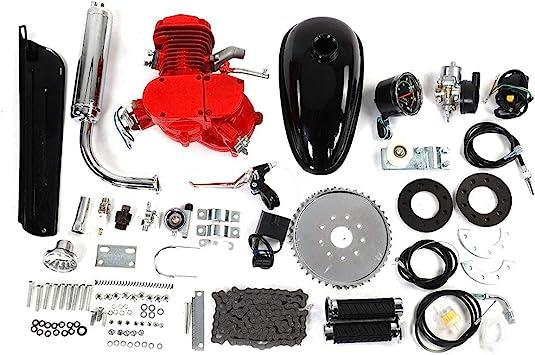 Kit de Motor de Bicicleta, Kit de Motor de Bicicleta de 80 CC Ciclo Pedal Motor de Gasolina de Gas Kit de Ciclo de 2 Tiempos: Amazon.es: Coche y moto
