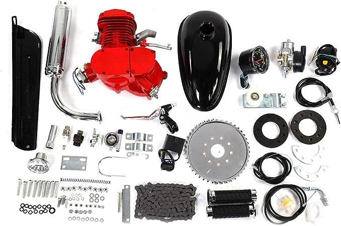 Neufday Kit de Motor de Bicicleta de 80cc, Bicicleta motorizada de 80CC Ciclo de 2 Tiempos Kit de Motor de Motor de Gasolina de Gas Juego de velocímetro: Amazon.es: Hogar