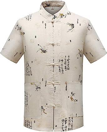Hombres Chino Tradicional Uniformes de Tai Chi Lino Traje Tang Kung Fu Camisa + Pantalones: Amazon.es: Ropa y accesorios