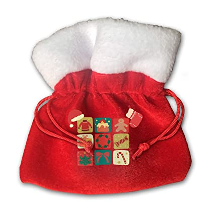 21ee6908378e6 HACVREQ Customized Small Christmas Decoration Personalized Gift  Bag-MerryChristmasred Hat Stocking Stuffers   Party Decorations