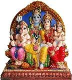 Attractive Shiva, Parvati, and Ganesh, and Kartikey Statue