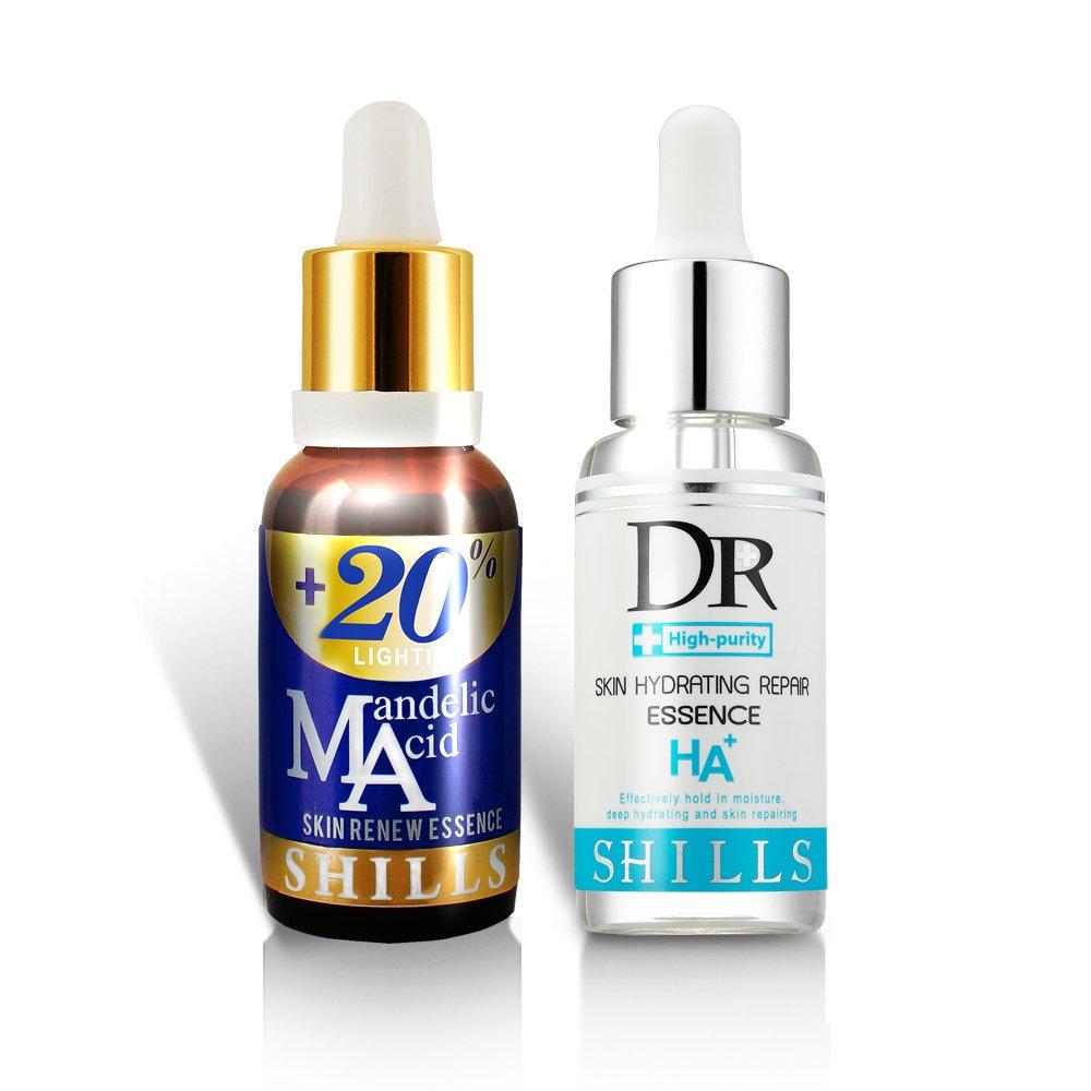 SHILLS Mandelic Acid Face Serum- Anti Acne & Scar Face Serum. With Vitamin E For Skin Care - Remove Blackheads, Brightening Facial Essence 30ML LIN QUAN ENTERPRISE CO. LTD