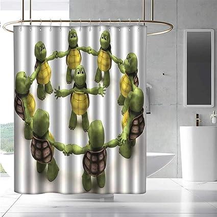 Amazon.com: EwaskyOnline Funny Shower Curtain Reptile Ninja ...
