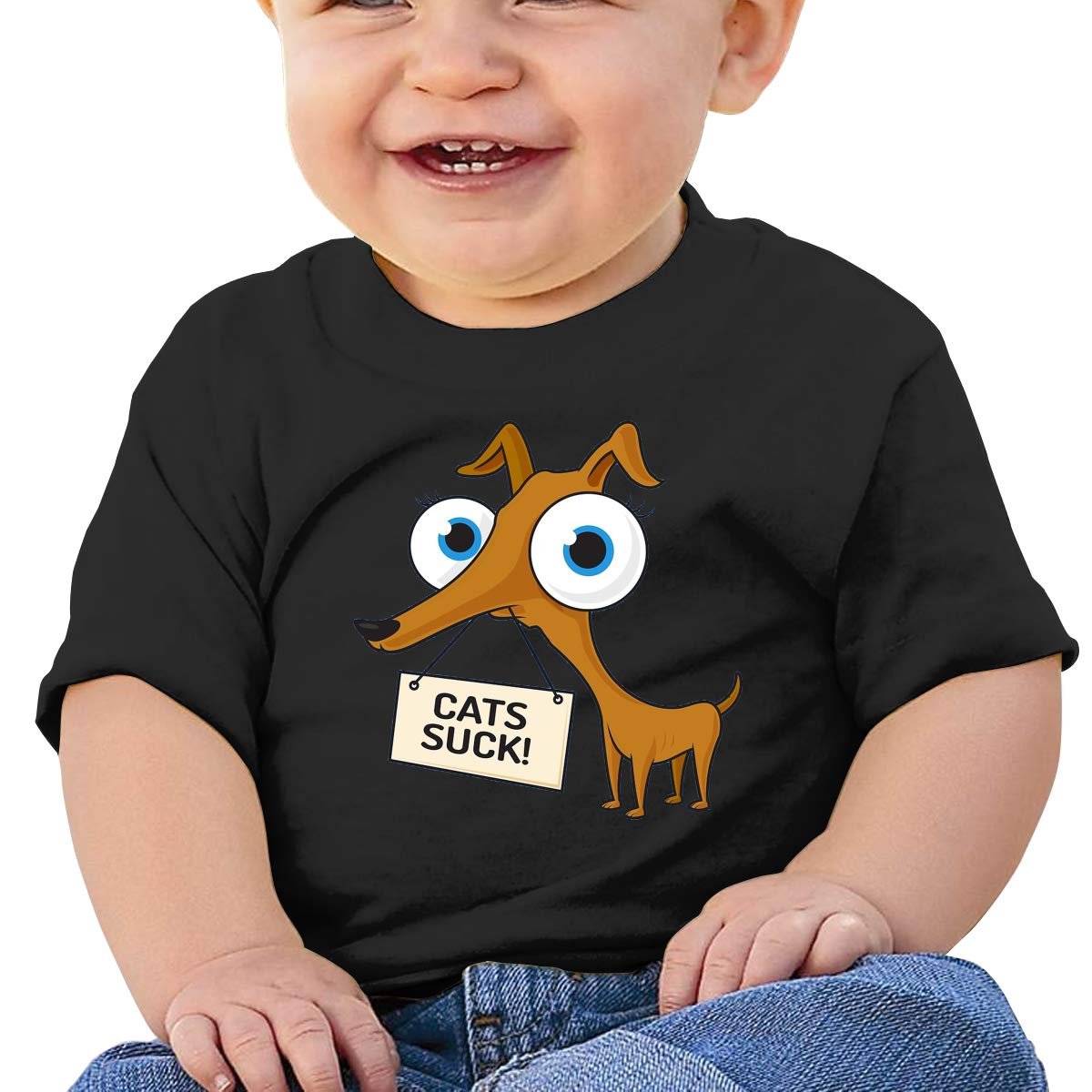 SakanpoCats Suck Toddler//Infant Short Sleeve Cotton T Shirts Black