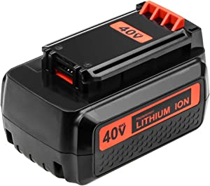 3.0Ah Battery Replace for Black and Decker 40V Lithium MAX Battery Replacement LBX2040 LBXR36 LBXR2036 LST540 LCS1240 LBX1540 LST136W Cordless Tools 1Pack