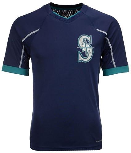eacb7a2833e VF Seattle Mariners MLB Mens Majestic Cool Base Emergence Shirt Navy Blue  Big Sizes (5XL
