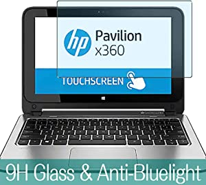 """Synvy Anti Blue Light Tempered Glass Screen Protector for HP Pavilion x360 11-n200 / n2840 11.6"""" Visible Area 9H Protective Screen Film Protectors"""