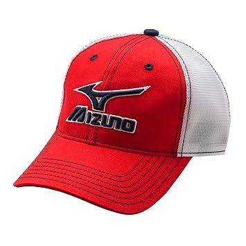 251c767b Mizuno Mesh Trucker Hat, Red-White: Amazon.ca: Sports & Outdoors
