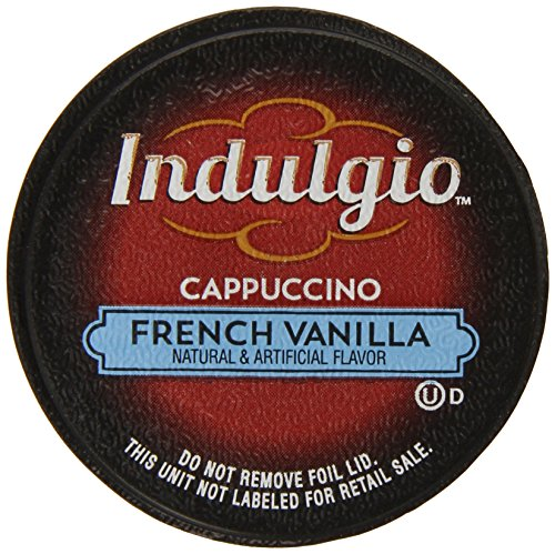 Indulgio Cappuccino, French Vanilla, 12-Count Single Serve Cup for Keurig K-Cup Brewers (Cup Green Cappuccino)