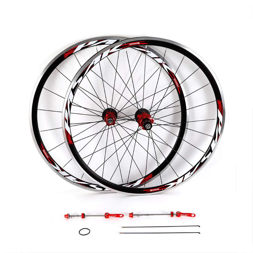 NOPTEG 700C Bicycle Bike Wheel Front Rear Wheel Wheelset Aluminium Alloy Rim 30mm USA by NOPTEG (Image #3)