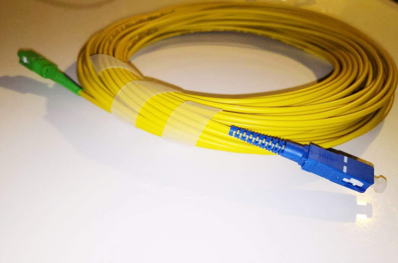 Compatibile con Freebox Iliad 10M. Free Cavo Fibra Ottica SC//APC per SC//UPC simplex monomodale 9//125