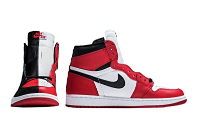 best service d0f65 69616 VIPTOPSF Air Jordan 1 Retro High OG Homage to Home Black White University  Red Mens Basketball