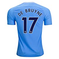 Pri-Z 2017/2018 Men's Jersey Manchester City DE Bruyne 17 Home Blue Color Size S