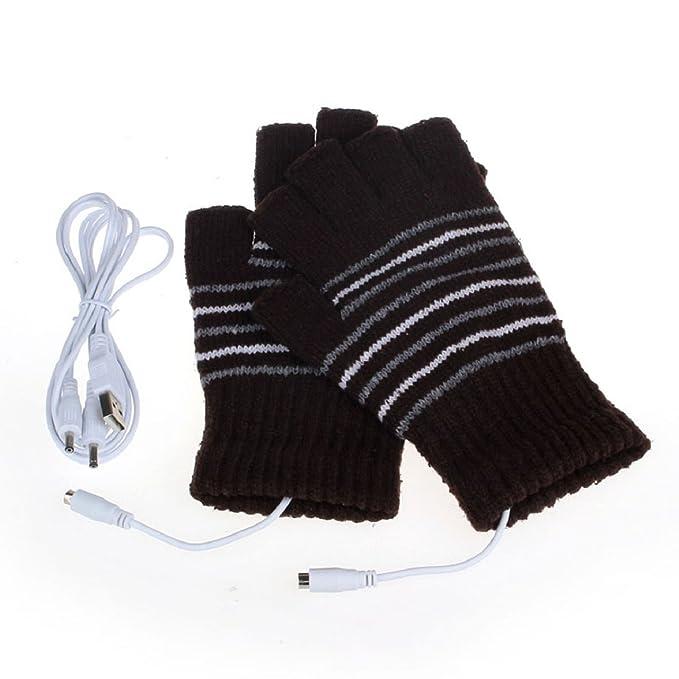 e3f0c75fd408ef Ukamshop 5V USB beheizt Winter Handwärmer Handschuhe waschbar (Kaffee):  Amazon.de: Bekleidung
