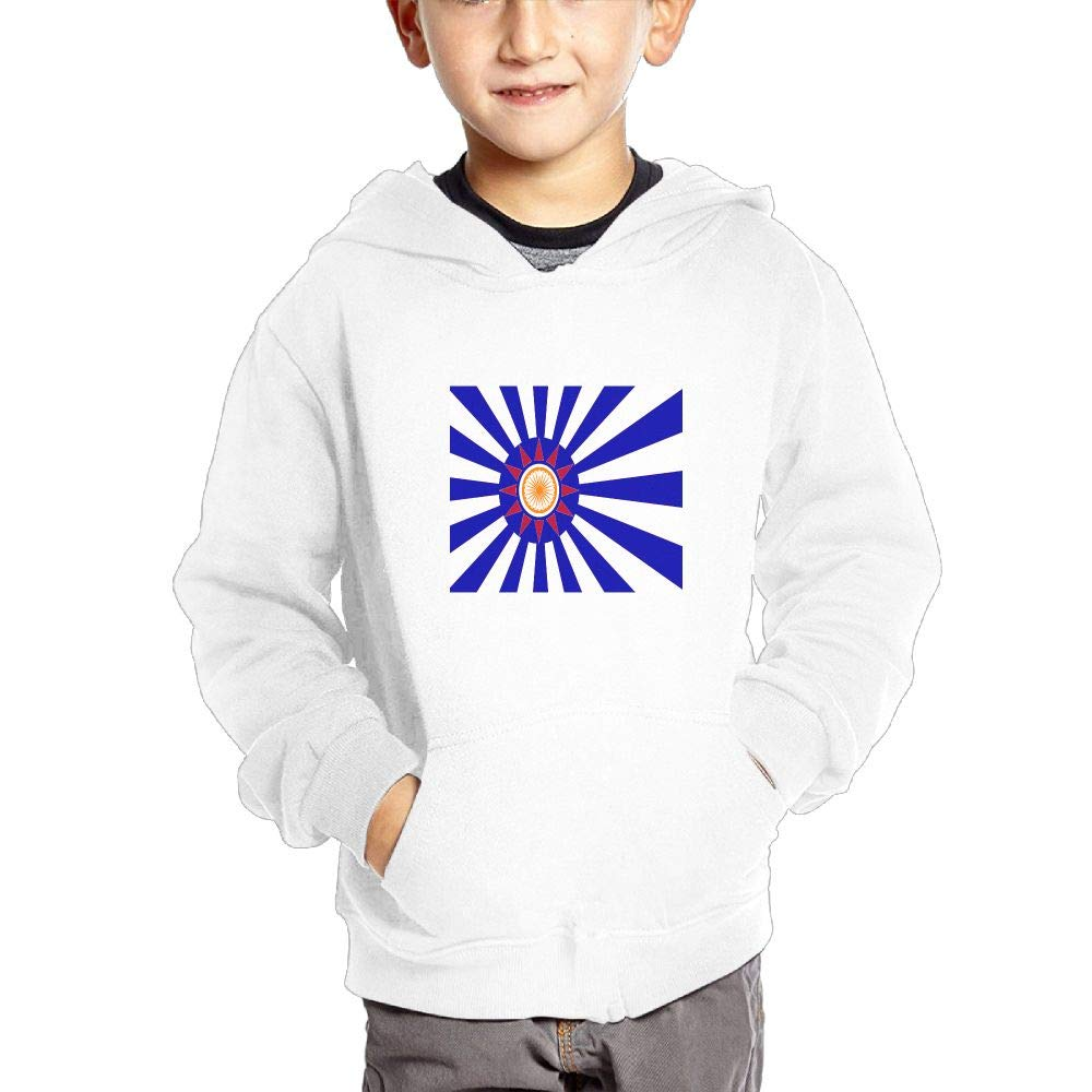 JIANGSHAN The Japanese Flag Personality Hooded Pocket Sweater for Children Spring//Autumn//Winter Outfit Long-Sleeved Hoodie
