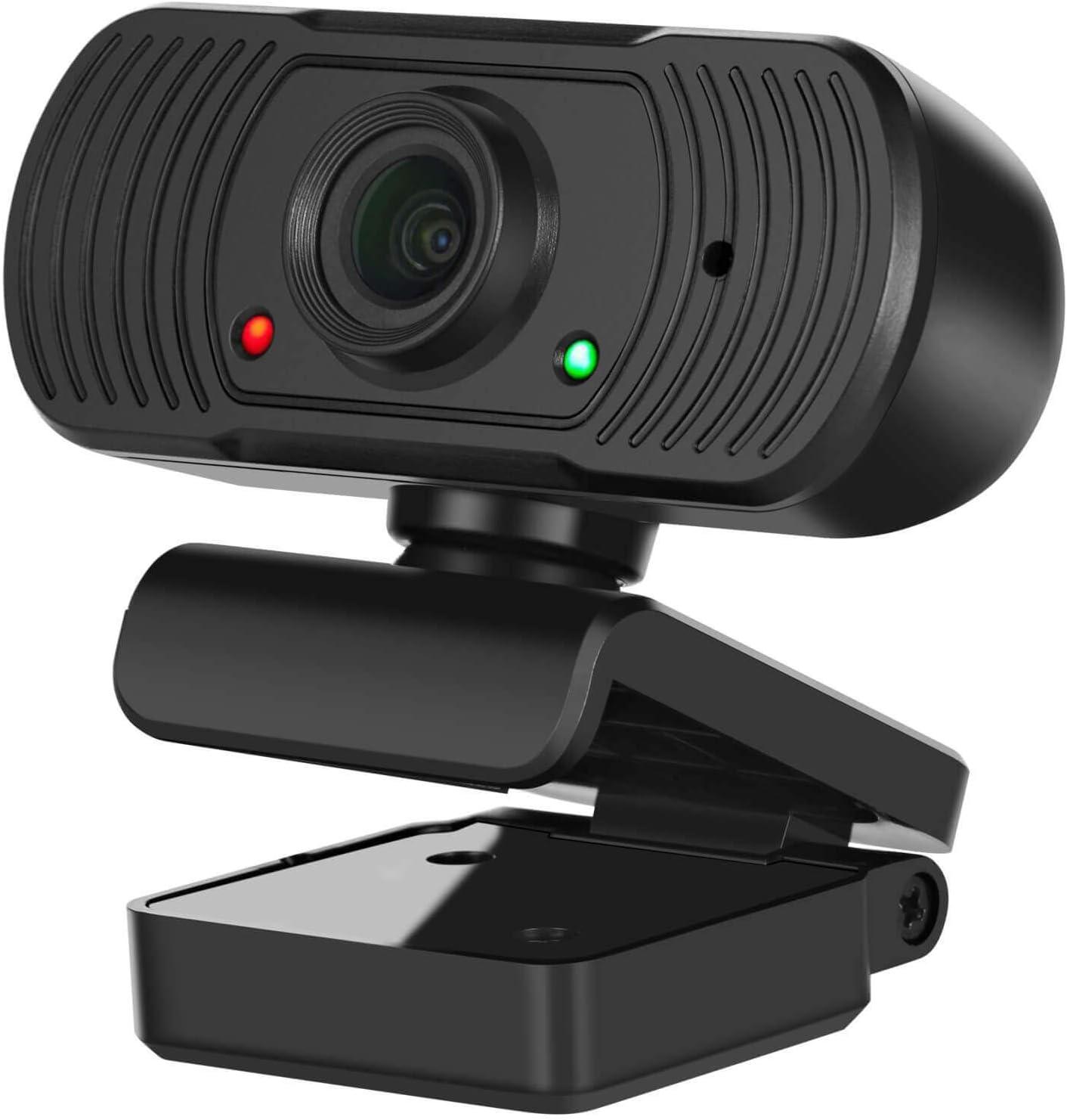Laptop y Mac Studi USB Videocamera per PC per Videochiamate,Giochi,Streaming Qmate Webcam per PC Conferenze. con Base Girevole a 360 /° Full HD Webcam con Microfono a Cancellazione di Rumore