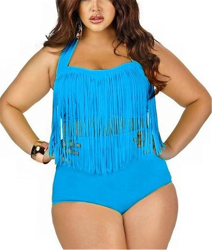 47d4b06238 Tailloday Taille Plus Frange rétro Taille Haute Bikini Vintage Maillots de Bain  Maillot de Bain: Amazon.fr: Vêtements et accessoires
